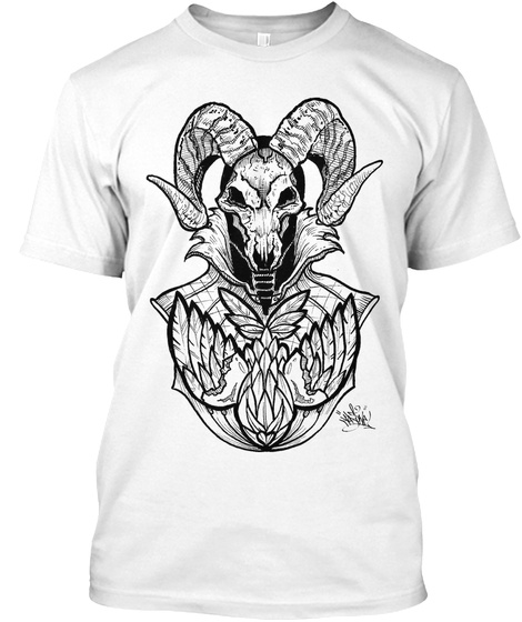 Triple Threat Ram White T-Shirt Front