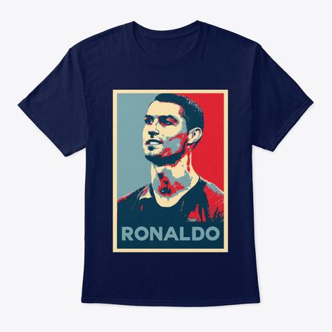 Ronaldo Hope Poster Style Shirt Navy T-Shirt Front