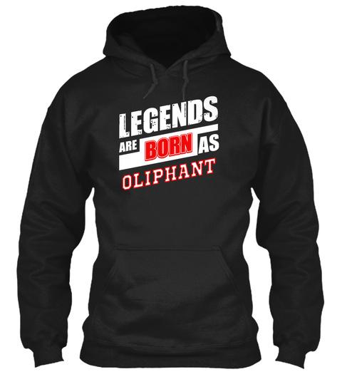 Oliphant Family Name Shirt Black T-Shirt Front