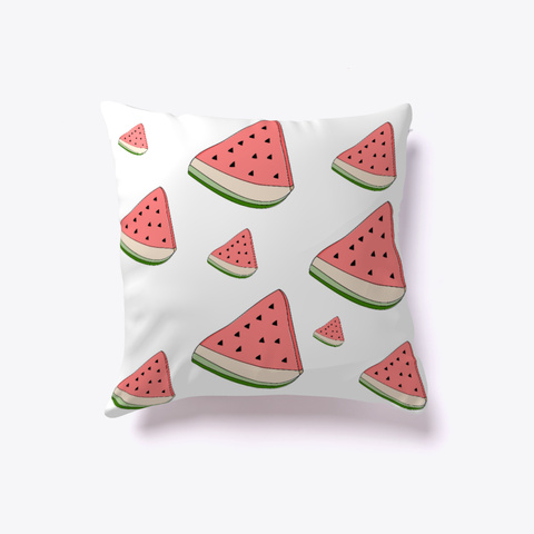 Watermelon Pillow White T-Shirt Front