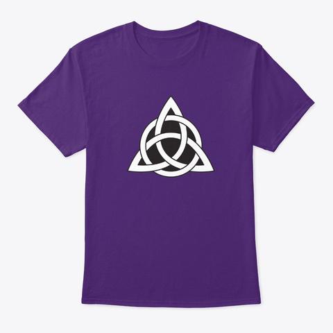 Celtic Knot Design 1 Purple T-Shirt Front