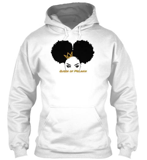 Queen Of Melanin White T-Shirt Front
