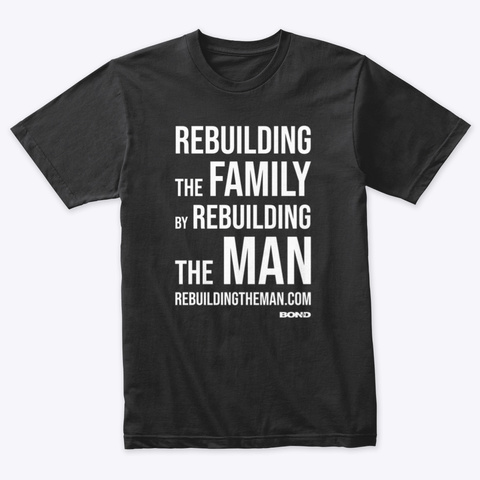 Rebuilding The Family Stack — White Ink Vintage Black T-Shirt Front