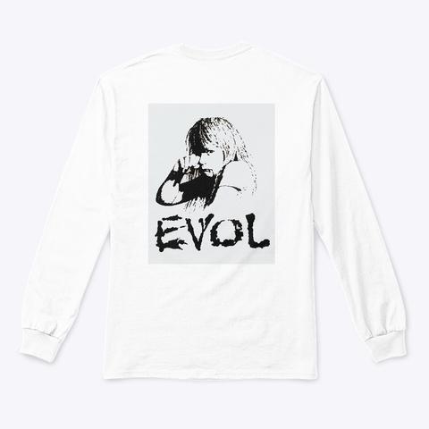 Evol  Sad Girl Shirt White Kaos Back