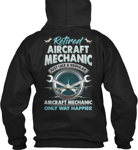 Aircraft Black T-Shirt Back