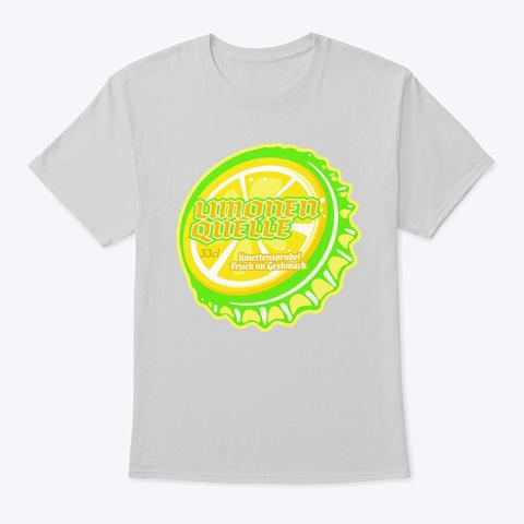 Limonen Quelle Soda Bottle Cap Light Steel T-Shirt Front