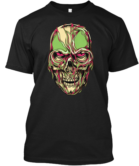 Zombie Look Black T-Shirt Front