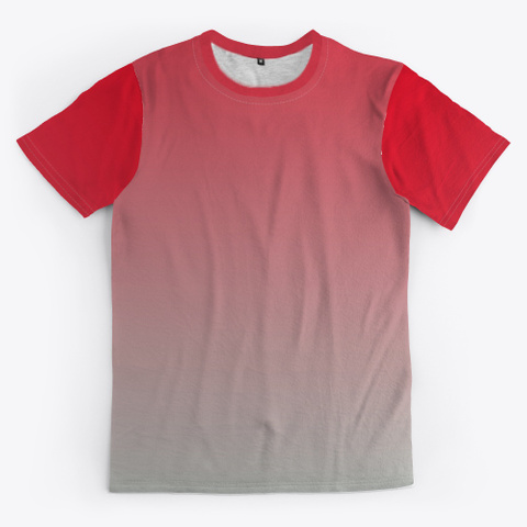 Red Abstract Color Gradient Minimal Art Standard T-Shirt Front
