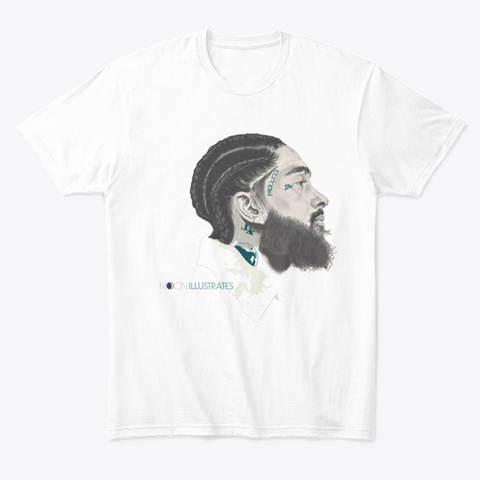Nip Tribute White T-Shirt Front