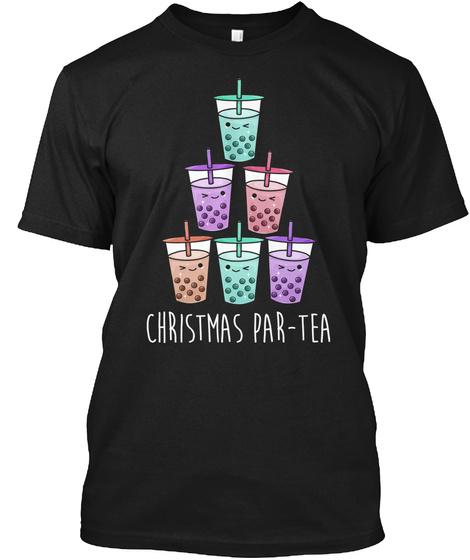 Boba Tea Wonderful Cute Kawaii Bubble Milk Tea Black T-Shirt Front