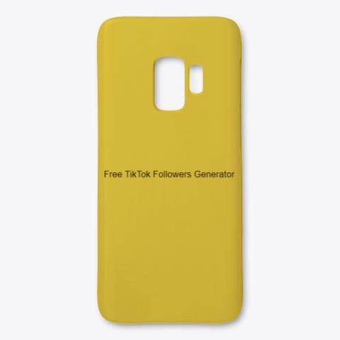 Free Tik Tok Followers Generator   2020 Yellow T-Shirt Front
