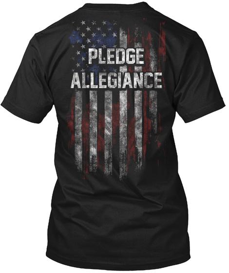 Pledge Allegiance Black T-Shirt Back
