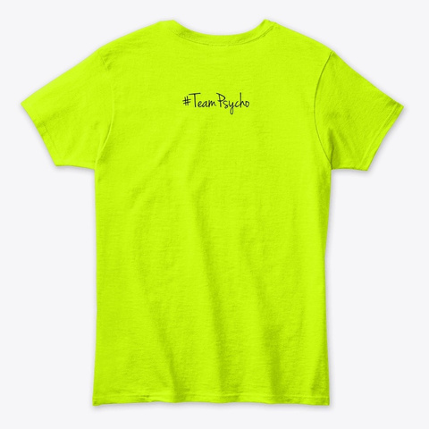 Save The Fupa Safety Green T-Shirt Back