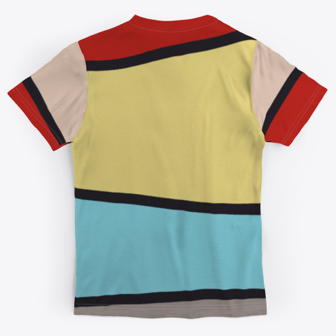 Colorful Abstract Geometric Pattern Standard T-Shirt Back