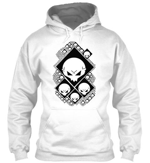 Skull Boi Shirt White T-Shirt Front
