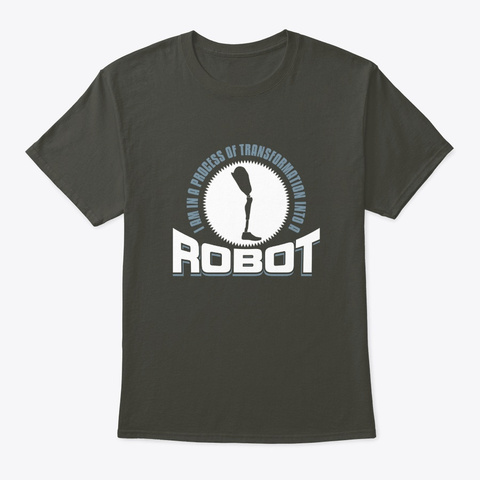 Process Of Transformation Into A Robot Smoke Gray T-Shirt Front