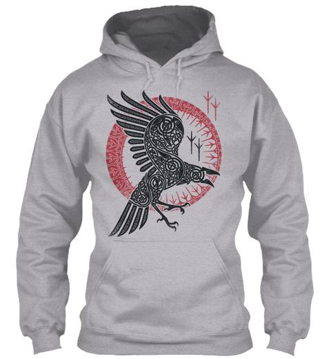 online store acb4d c790b Ragnar's raven Viking Hoodie