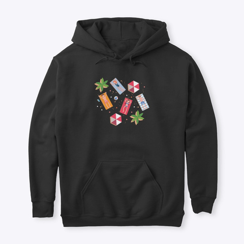 Hoodie: Enjoy Black T-Shirt Front