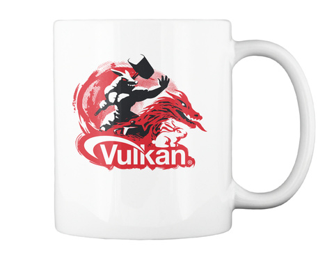 Vulkan Mug 2018 (Left) White Mug Back