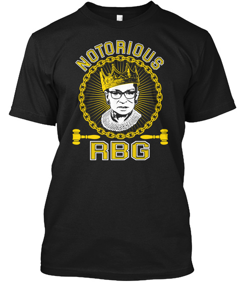 Notorious Rbg Black T-Shirt Front