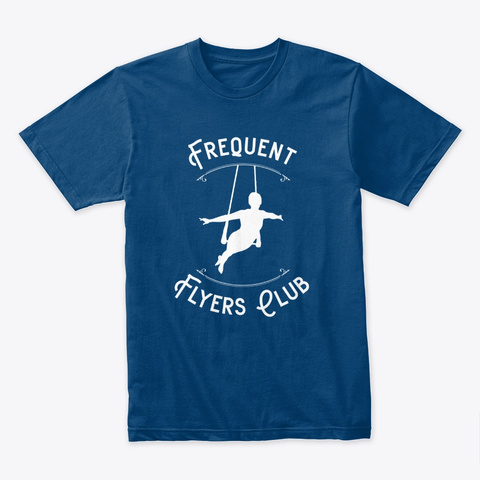 Frequent Flyers Club Cool Blue T-Shirt Front