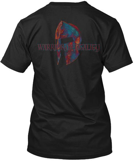 Warrior Mentality Black T-Shirt Back