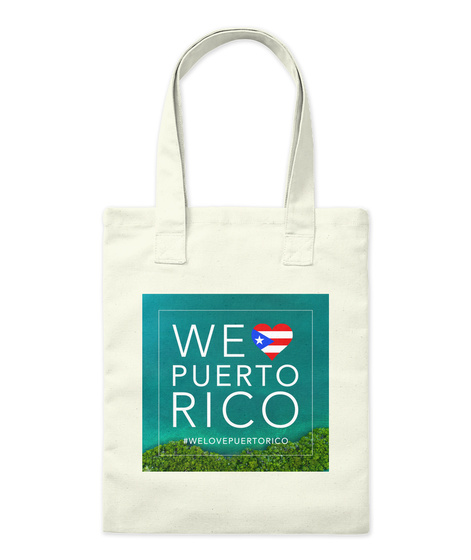 We Love Puerto Rico #Welovepuertorico Natural T-Shirt Front