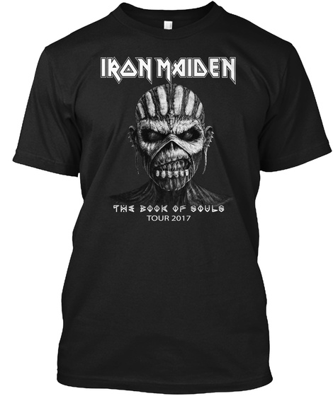 Iron Maiden The Book Of Souls Tour 2017 Black T-Shirt Front