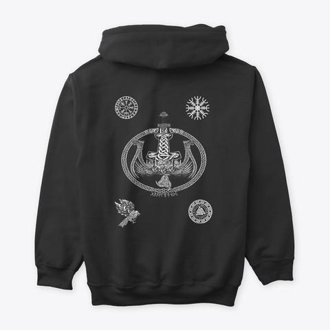 Limited Edition   Real Vikings Apparel Black T-Shirt Back