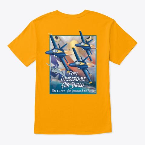 Fort Lauderdale Air Show Merchandise Gold T-Shirt Back