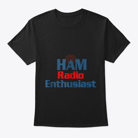 Ham Radio User Gift Cb Trucker Driver Ci Black T-Shirt Front