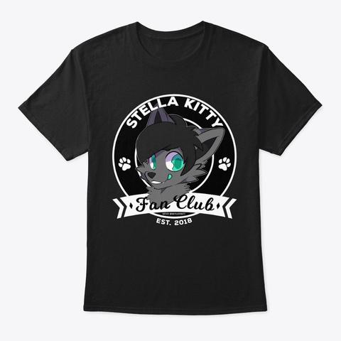 Stella Kitty Fanclub Design Black T-Shirt Front