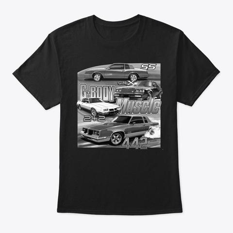 G Body Muscle B+W Black T-Shirt Front