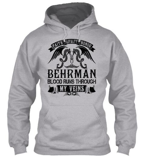 Behrman   My Veins Name Shirts Sport Grey T-Shirt Front