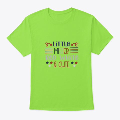 Little Mister Red White & Cute Lime T-Shirt Front