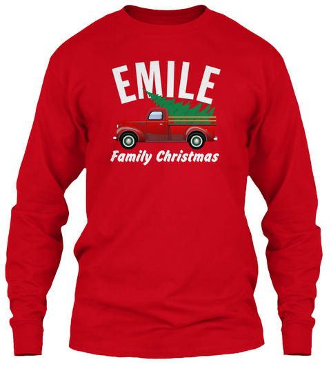 Emile Family Christmas Red T-Shirt Front
