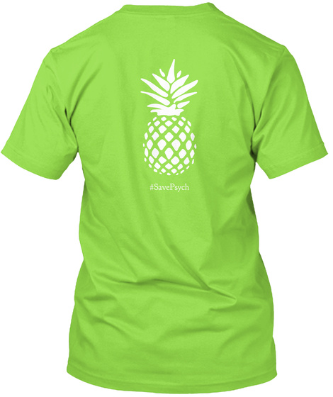 #Saxepavch Lime T-Shirt Back