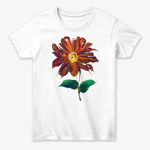 Log Cabin Quilt White T-Shirt Front