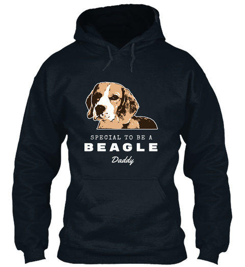 Special To Be A Beagle Daddy French Navy T-Shirt Front