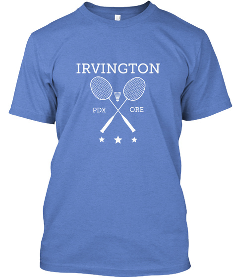 Irvington Ore Pdx Heathered Royal  T-Shirt Front
