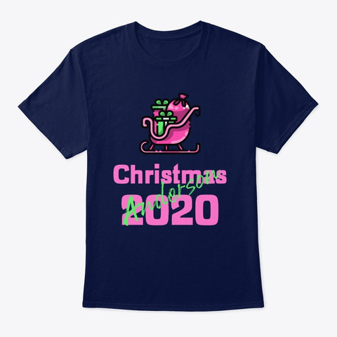 Anderson Christmas 2020  Navy T-Shirt Front