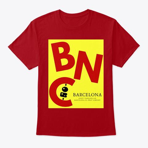Destination   Barcelona Bcn Deep Red T-Shirt Front