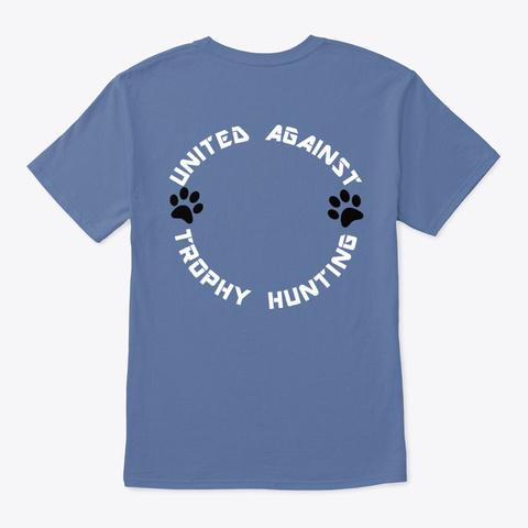 Palm Of Hand Animals Denim Blue T-Shirt Back
