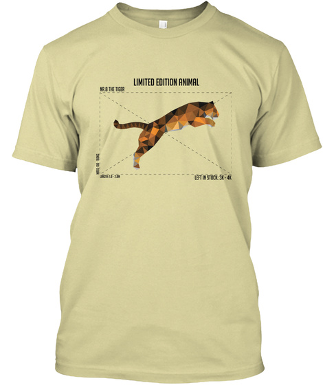 Limited   Nr.8 The Tiger Sand T-Shirt Front