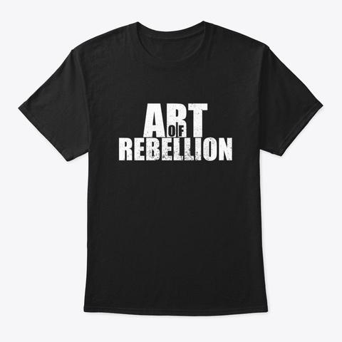 Art Of Rebellion Black T-Shirt Front