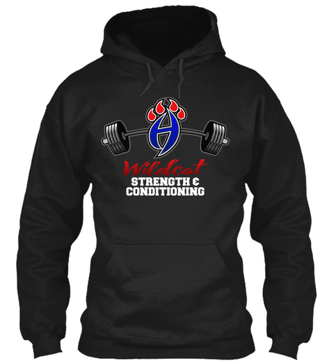 Wildcat Strength & Conditioning  Black T-Shirt Front