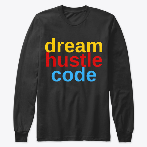 Dream Hustle Code Classics Black T-Shirt Front