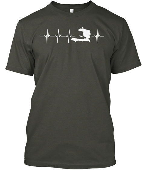 Haiti Holiday Gift Smoke Gray T-Shirt Front