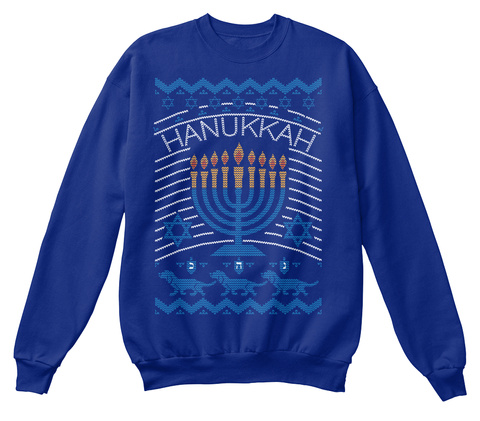 Hanukkah Deep Royal  Sweatshirt Front