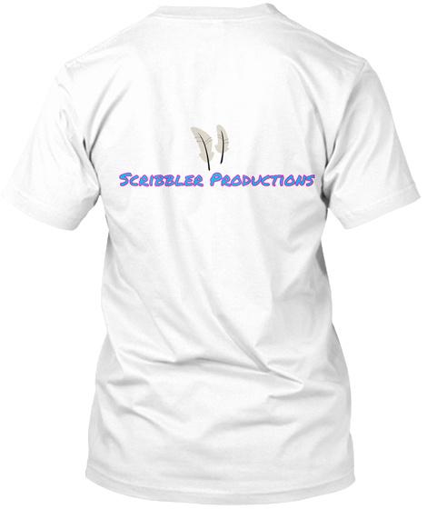 Scribbler Production White T-Shirt Back